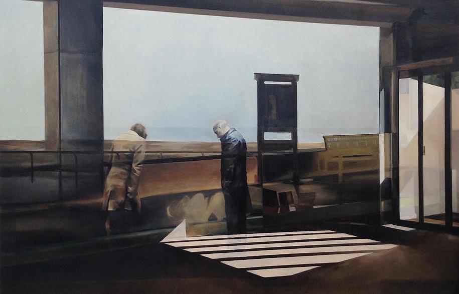 Sans-titre, 2017, Huile sur toile, 130x192 cm