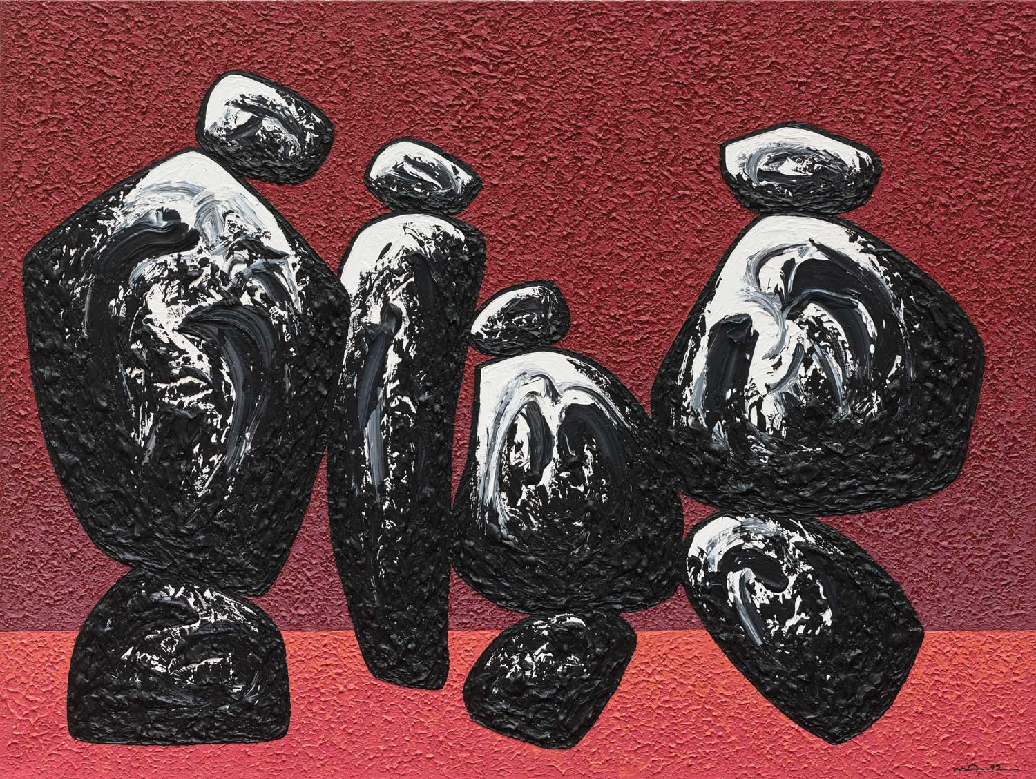 Rocks 1, 2012, acrylic on canvas, 150 × 200 cm. Courtesy the artist and Rossi & Rossi, London